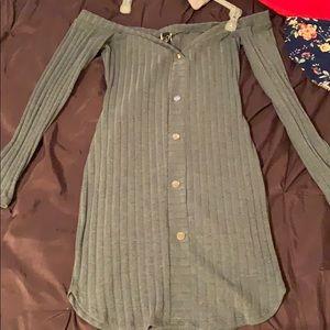 Windsor olive green mini bodycon dress